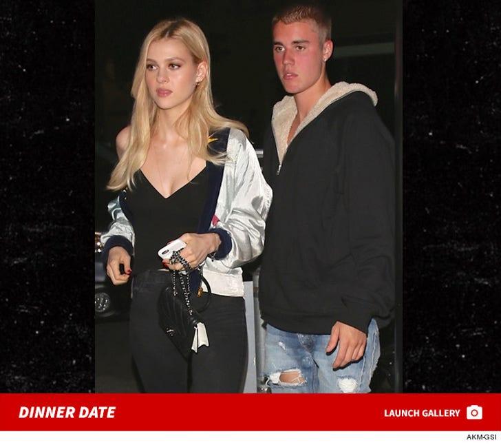 Justin Bieber and Nicola Peltz -- Dinner Date Night