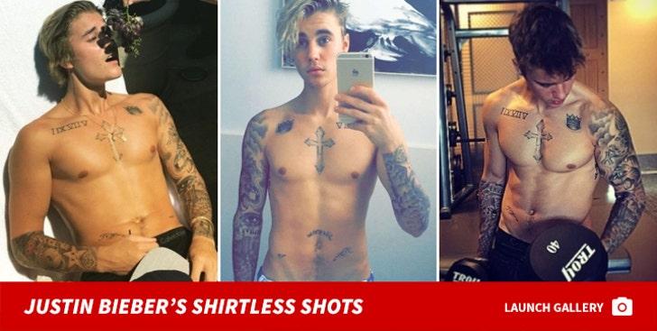 Justin Bieber's Shirtless Shots