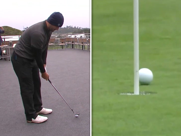 Tony Romo Hits Absurd Chip Shot From Hospitality Tent At Golf Pro-Am