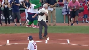 Red Sox Photographer's Balls Smashed by Ceremonial 1st Pitch