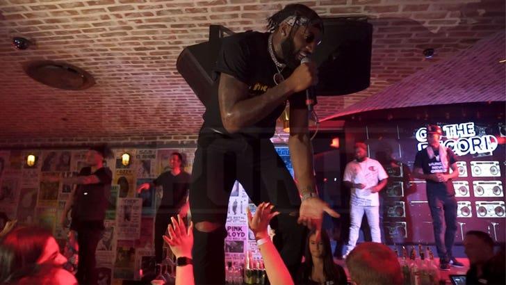 NBA's Andre Drummond Drops Bars During Rap Show at Vegas Nightclub