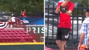 Fan Records Himself Making Insane Home Run Catch At College Baseball Game