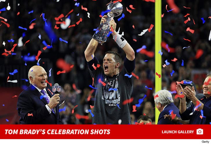 Tom Brady's Celebration Shots