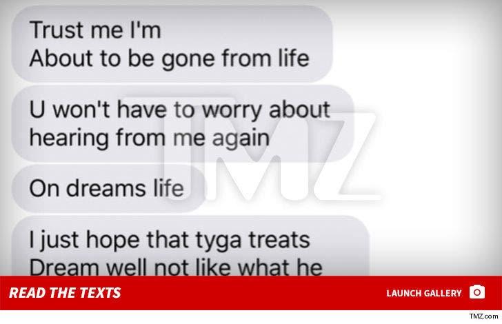 Rob Kardashian's Suicidal Texts