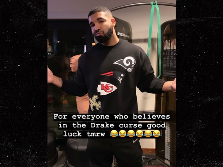 timeless design 3e401 6aa53 Drake Embraces His Sports Curse, Dooms All 4 Remaining NFL Teams