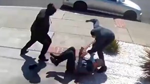 Elderly Asian Man Cries Out for Help While Bay Area Teens Attack Him