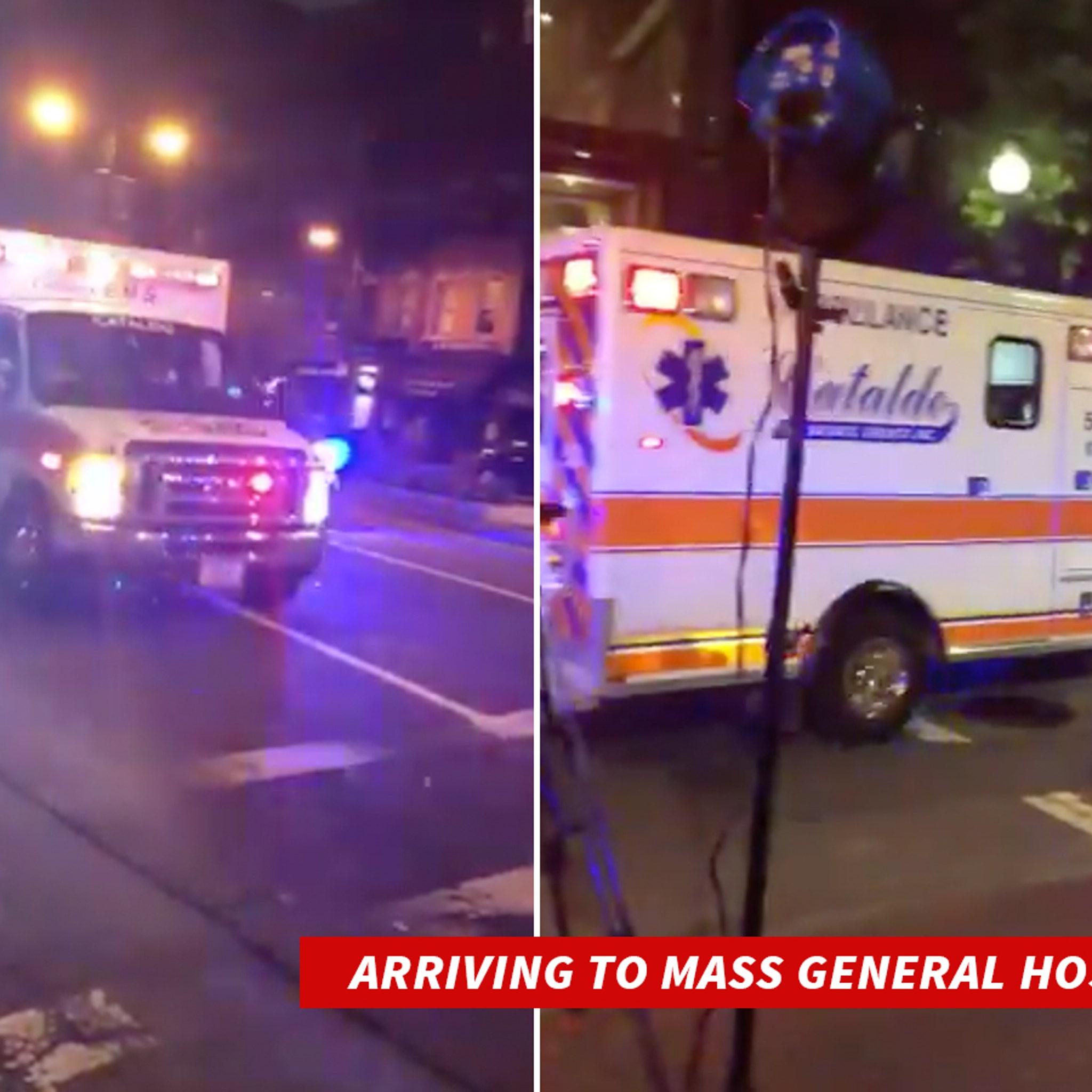 MLB's David Ortiz Arrives At Boston Hospital With Police Escort