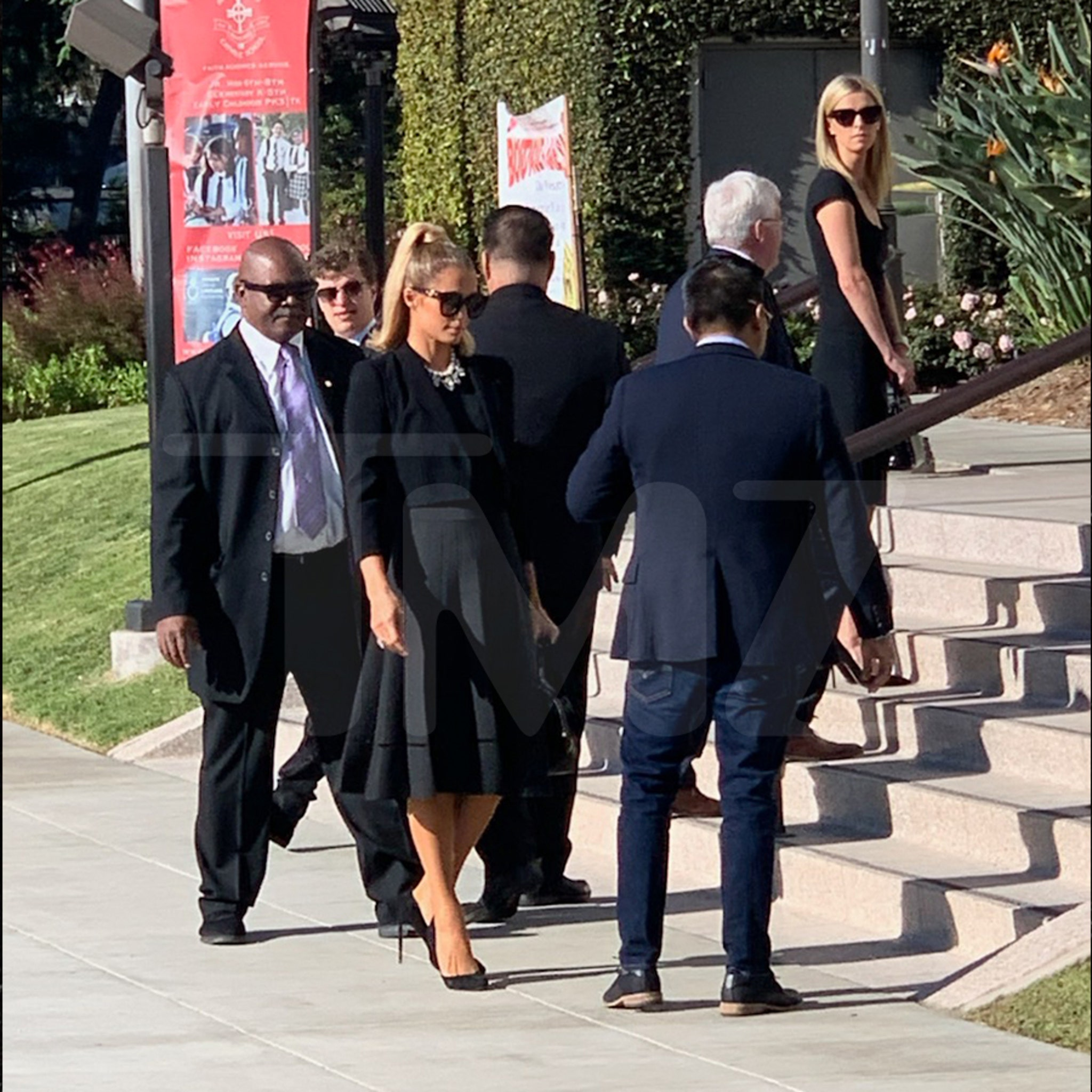 Paris Hilton Attends Funeral Services for Grandfather Barron