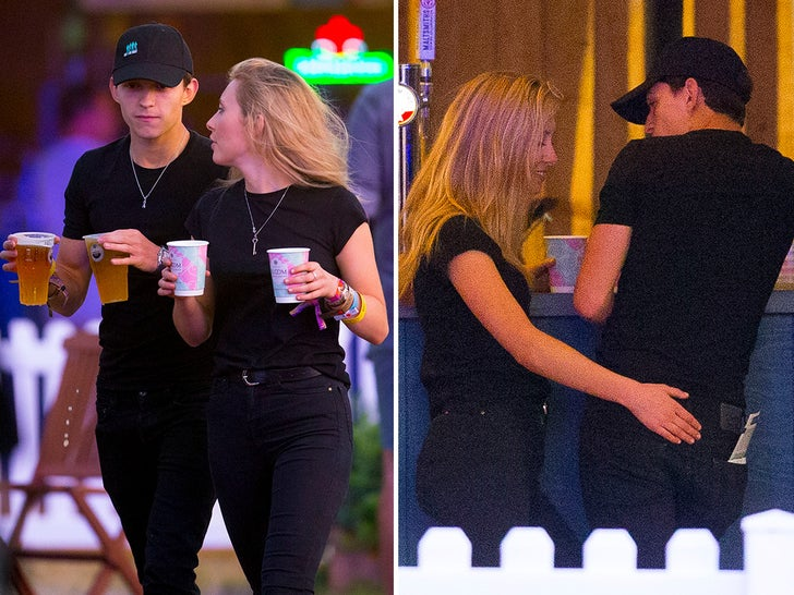 Tom Holland with a Mystery Blonde at London's Hyde Park