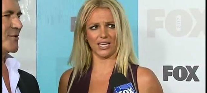 Britney Spears Chewing Gum During X Factor Interview