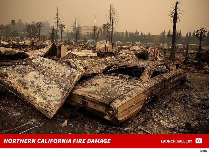 Northern California Fire Damage