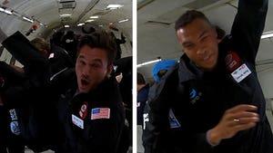 'Bachelor' Stars Tyler Cameron & Dale Moss Take Zero Gravity Flight