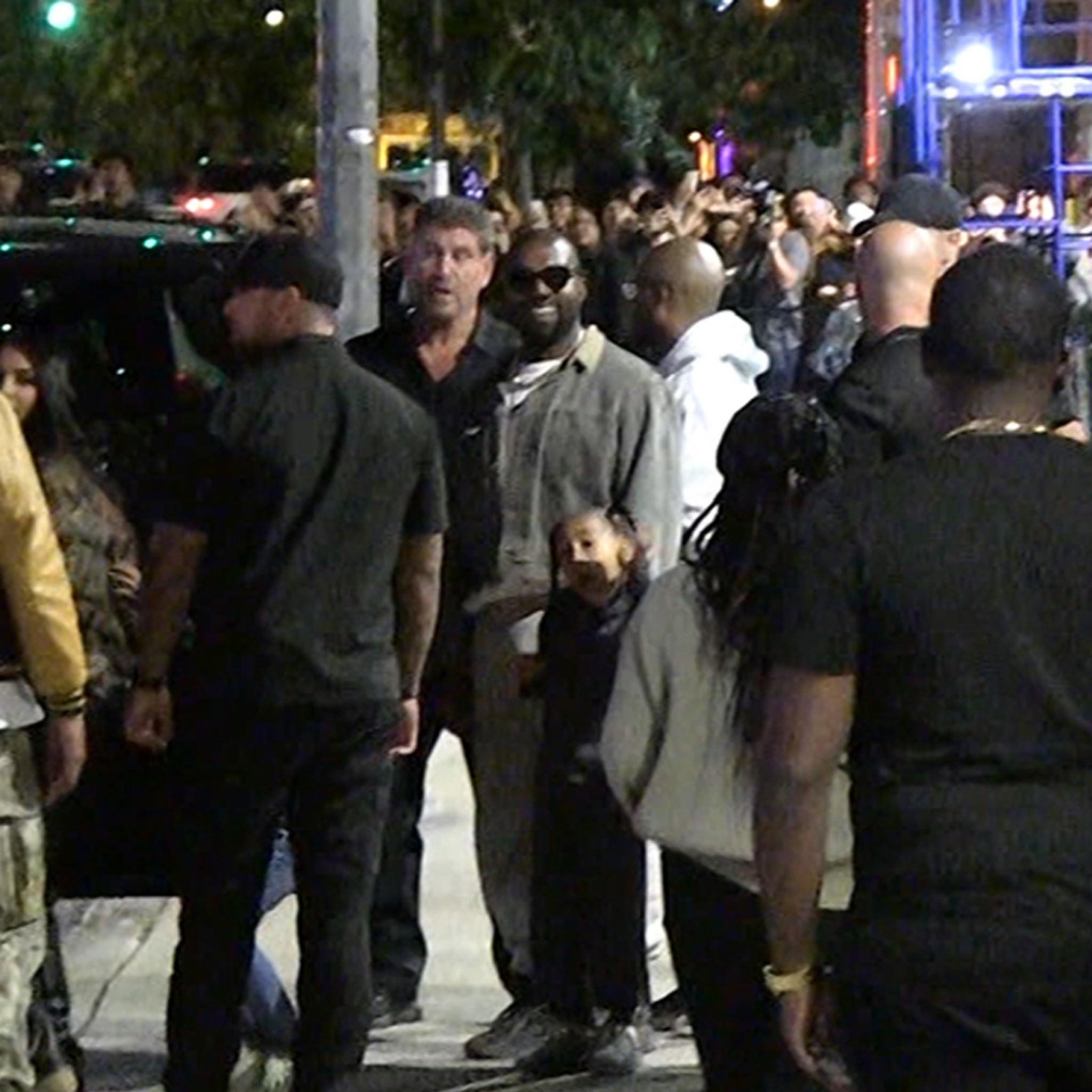 Kanye West All Smiles Despite Not Releasing Album