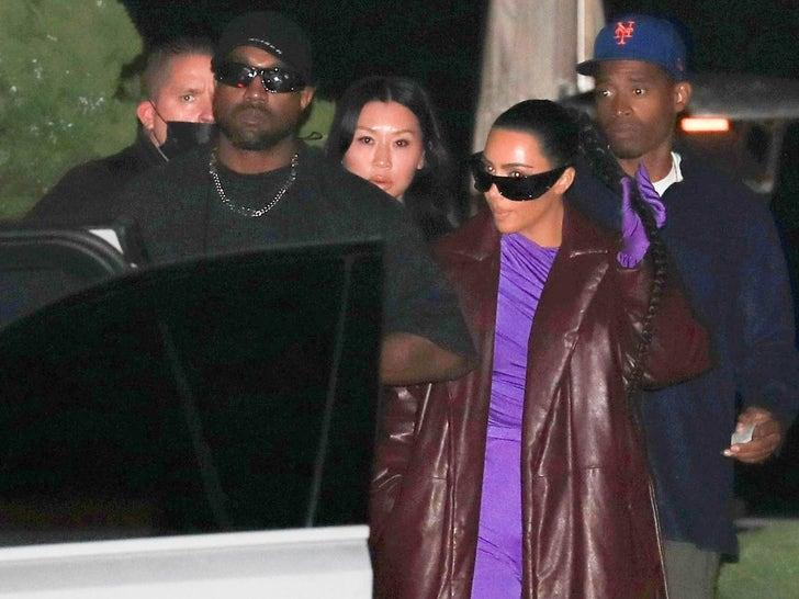 Kim Kardashian and Kanye West Reunite for Dinner in Malibu