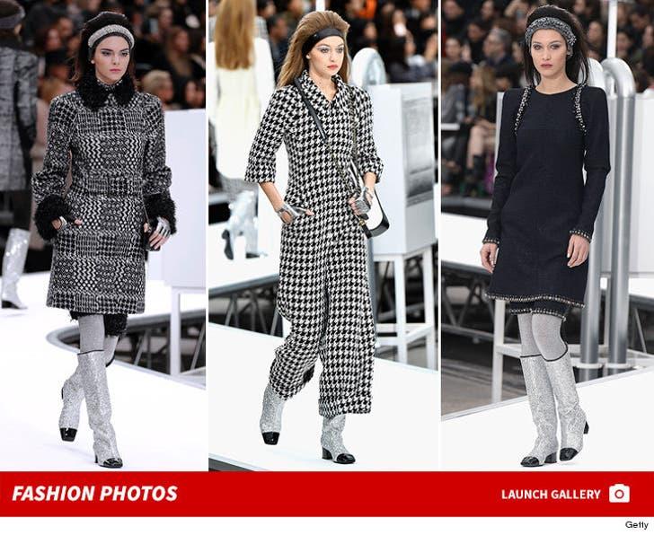 Kendall, Bella and Gigi -- The Chanel Fashion Show
