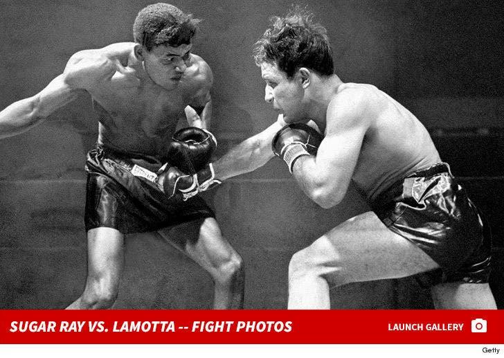 Sugar Ray Robinson vs. Jake LaMotta --Fight Photos