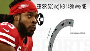 Richard Sherman Crash Report, Cops Say NFLer Collided W/ Barrier After Failing To Handle Turn