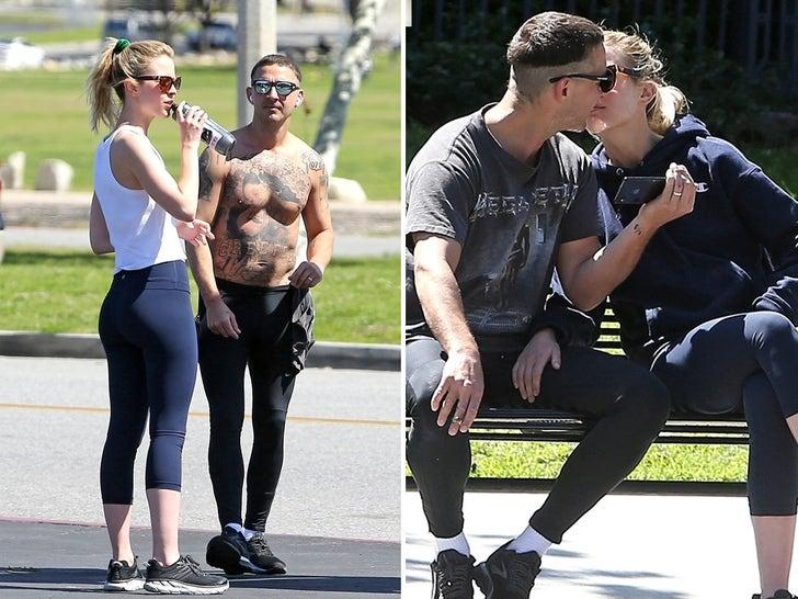 Shia LaBeouf Shirtless, Kissing Mystery Blonde Chick