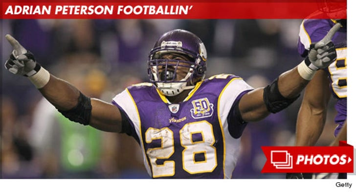 Adrian Peterson On The Field