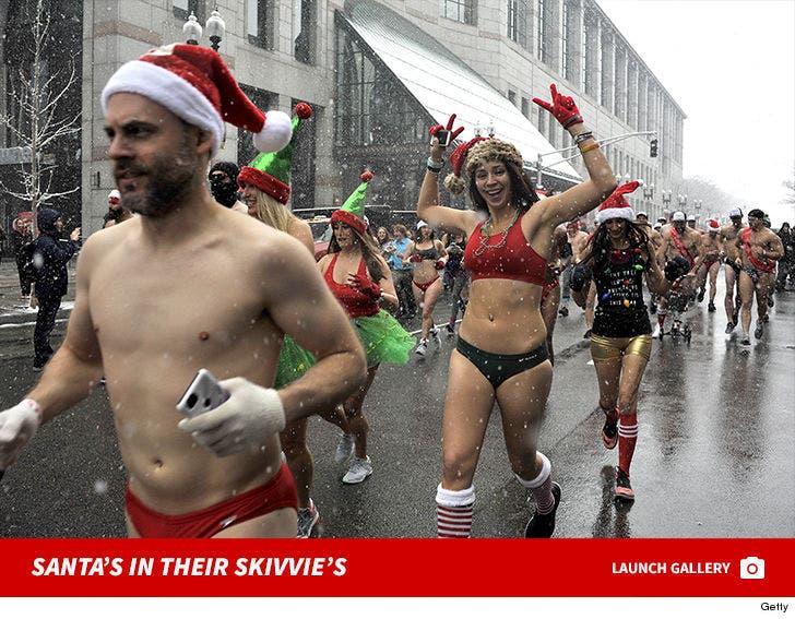 Boston's Santa Speedo Run 2017