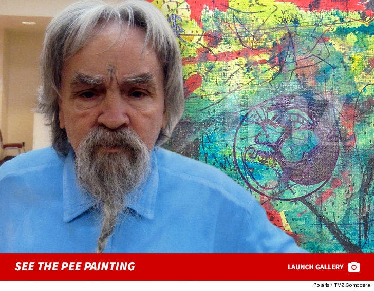 Charles Manson Pee Covered Painting