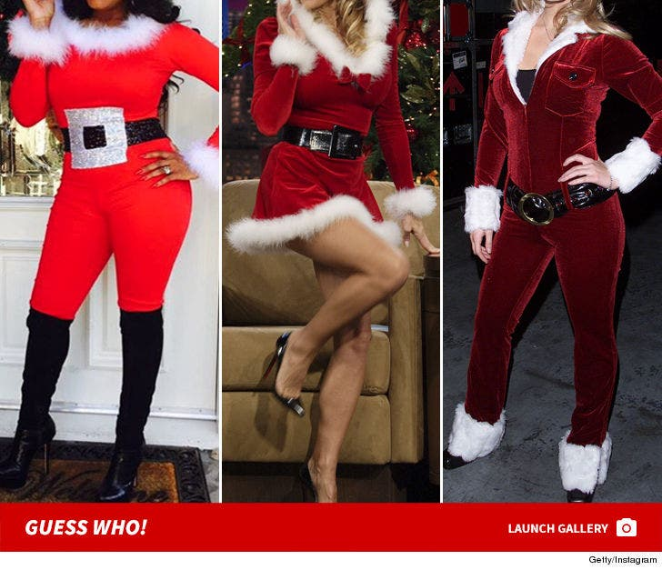 Sexy Celeb Santas -- Guess Who!