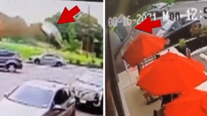 Out-of-Control Car Launches into Wendy's, Crazy Video