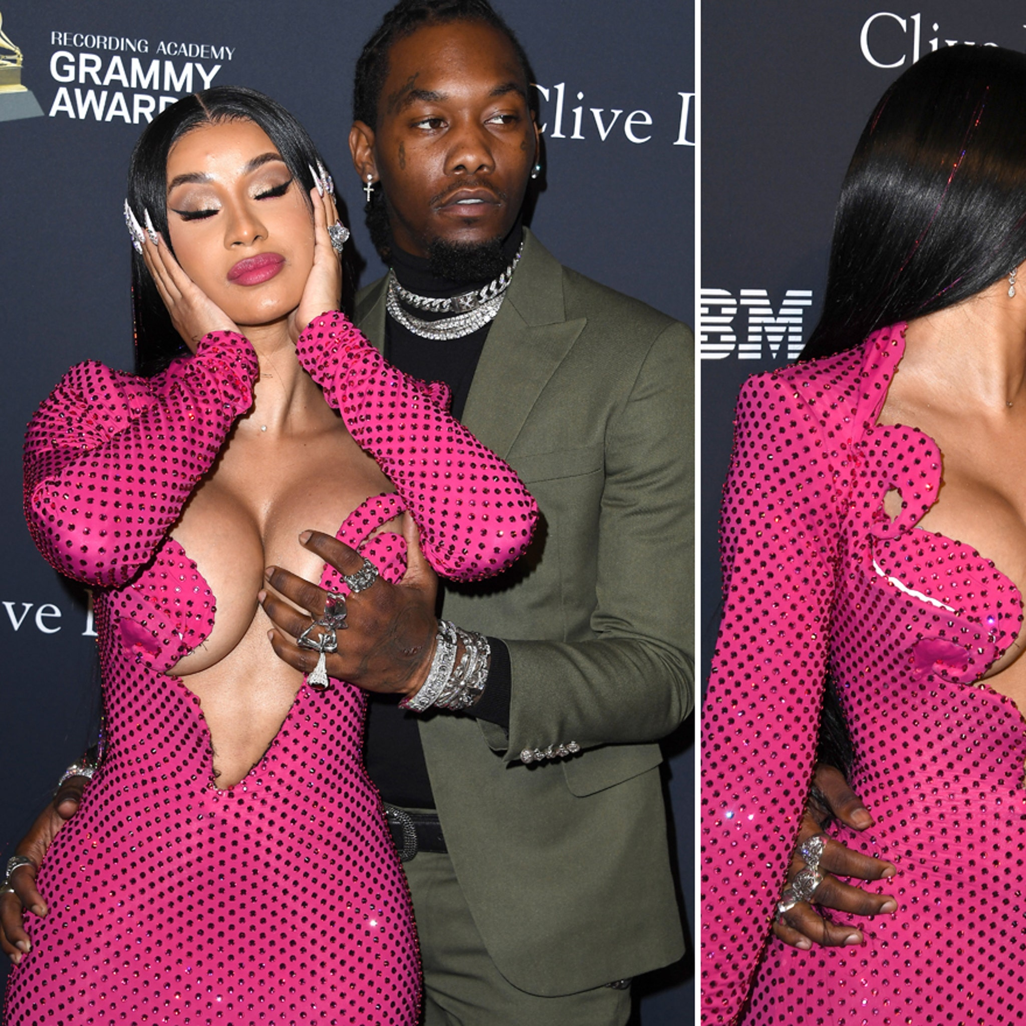 Offset Gives Cardi B a Hand at Clive Davis' Pre-GRAMMY Gala