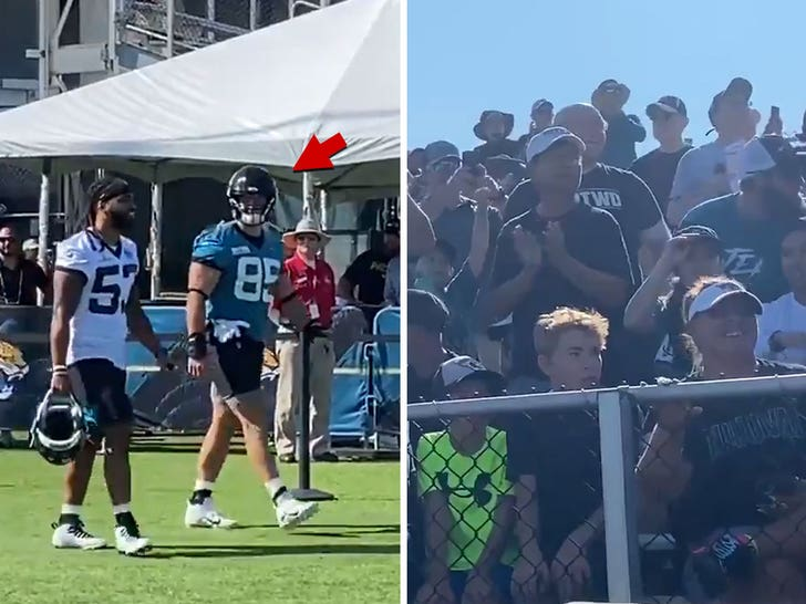 Tim Tebow Draws Huge Cheers At Jaguars Camp, Then Flashes During Practice!.jpg