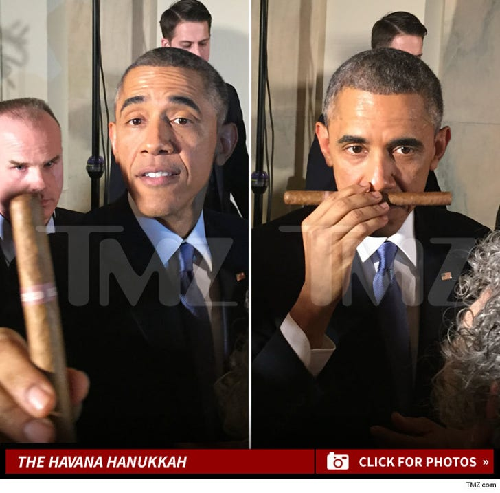 President Obama -- Cuban Cigar Crisis ... The Pic Es Verdad
