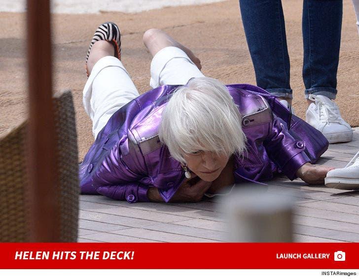Helen Mirren Hits The Deck