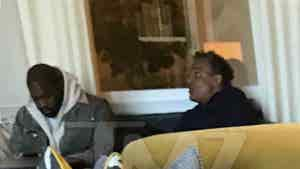 Kanye West and Rick Fox in Bahamas For Hurricane Dorian Relief