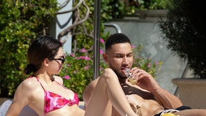 Kendall Jenner and Ben Simmons Oil Up, Strip Down to Sunbathe in Miami
