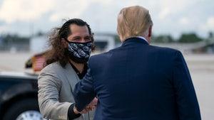 UFC's Jorge Masvidal Greets Donald Trump In Florida, POTUS Not Wearing Mask