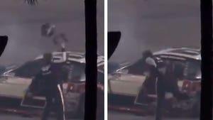 NASCAR's Brad Keselowski Smashes Helmet After Fiery Daytona 500 Crash