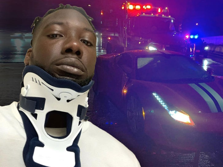 Jason Pierre-Paul Ferrari Crash Photos