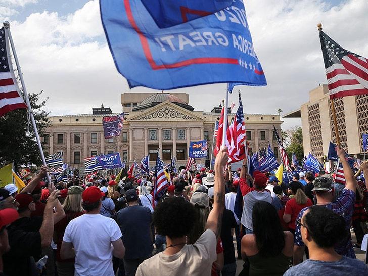 Pro-Trump Protest Breaks Out in Arizona