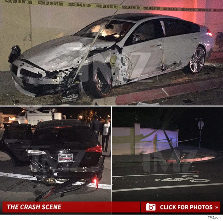 Blac Chyna's Car -- The Crash Scene