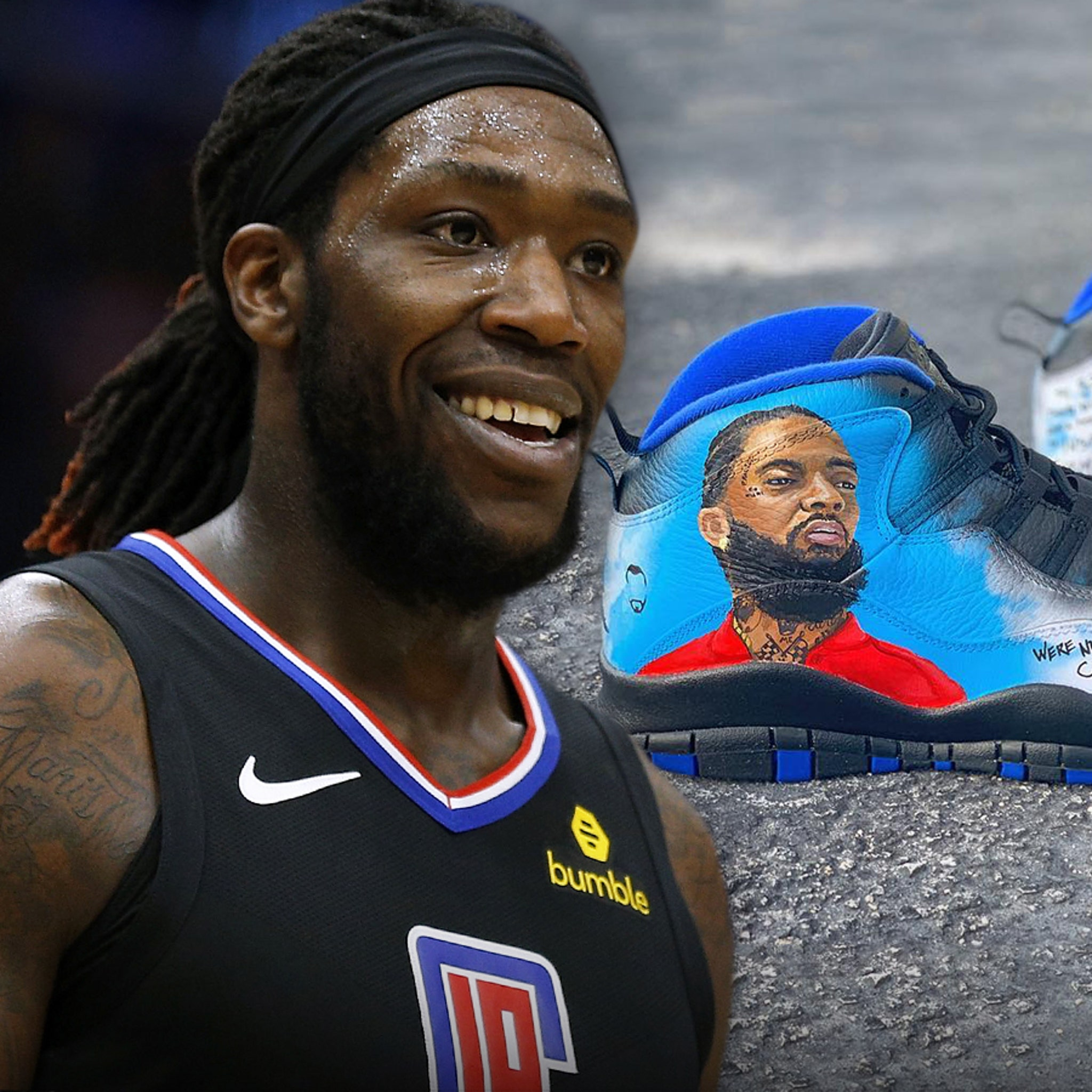 pretty nice 888ca 6b798 NBA's Montrezl Harrell Will Rock Nipsey Hussle Shoes in Playoffs