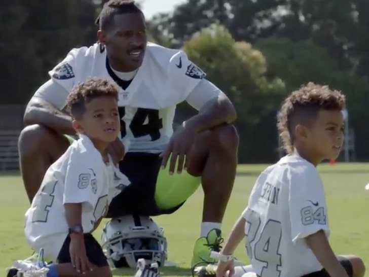 Antonio Brown's son has awkward Roethlisberger question