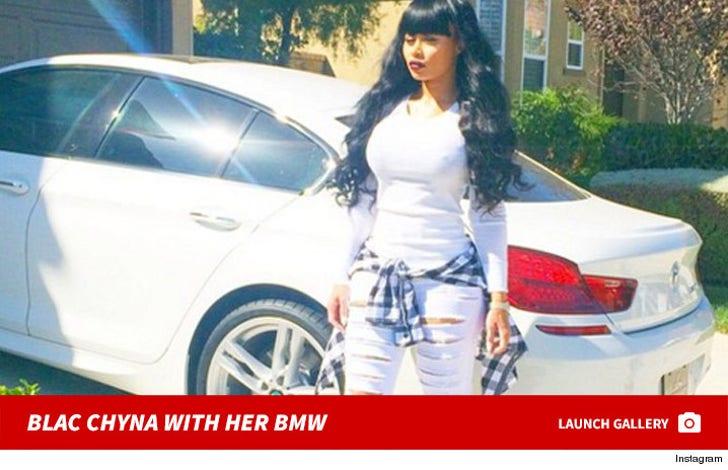 Blac Chyna With Her BMW
