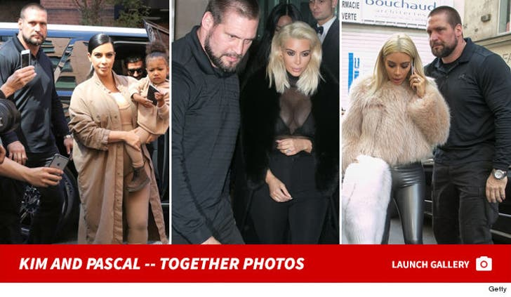 Kim Kardashian and Bodyguard Pascal Duvier -- Together Photos