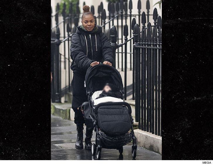 Janet Jackson's a Hands-On Mom with Baby Eissa