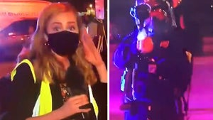 Reporter Shot at on Live TV By Police Pepper Balls at George Floyd Protest