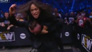 Rosario Dawson Attacks Malakai Black At 'AEW Dynamite'