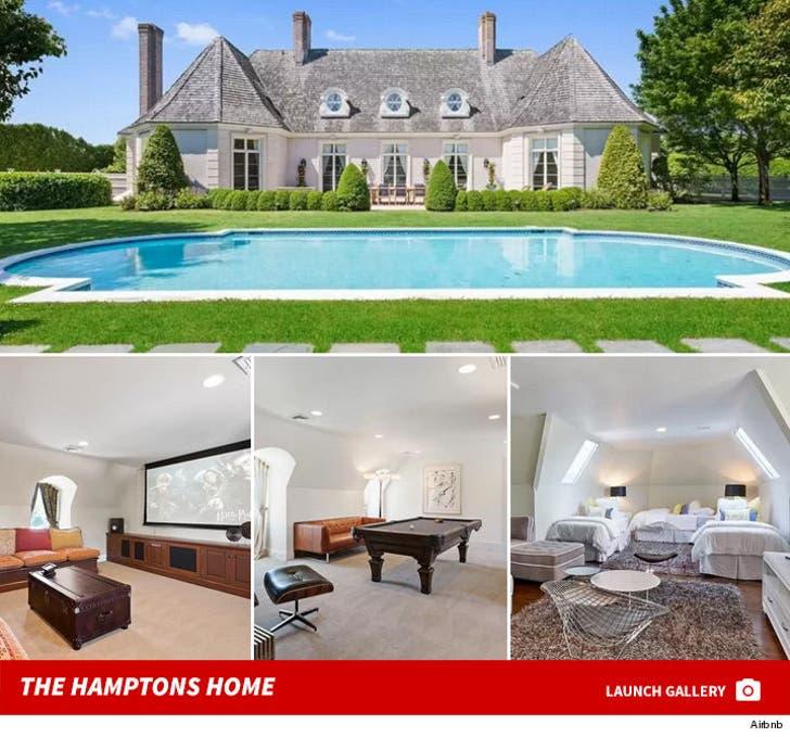 Nick Jonas -- Hamptons Rental Home