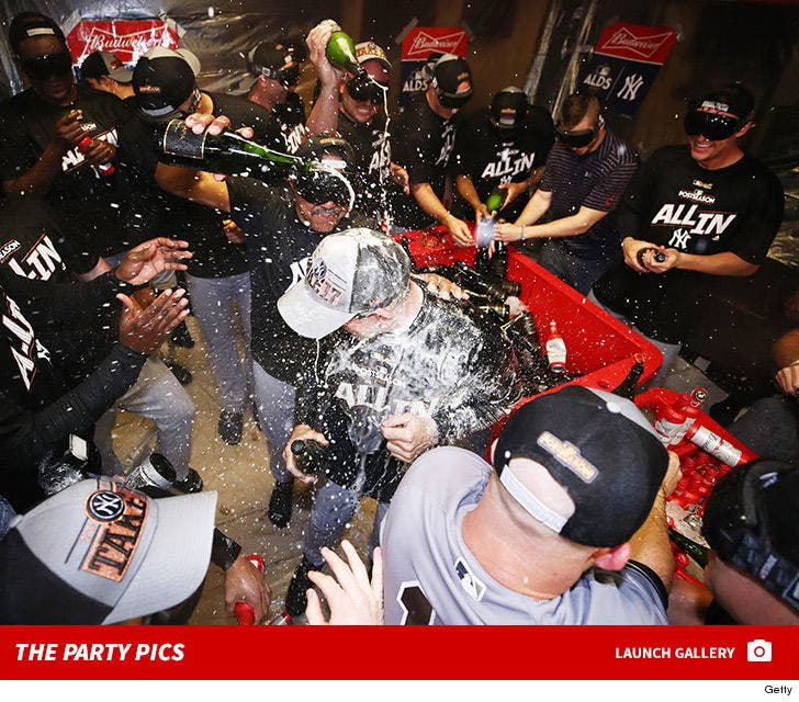 Yankees Champagne Celebration -- The Party Pics
