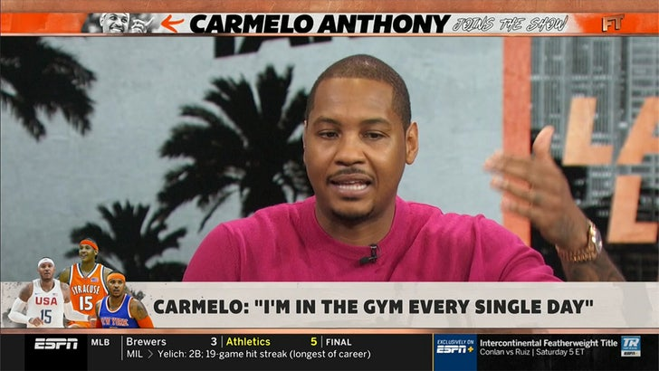Carmelo Anthony: 'I've never, ever said anything about a farewell tour'