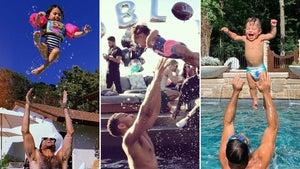 Family Pool Fun -- Stars Making A Splash!