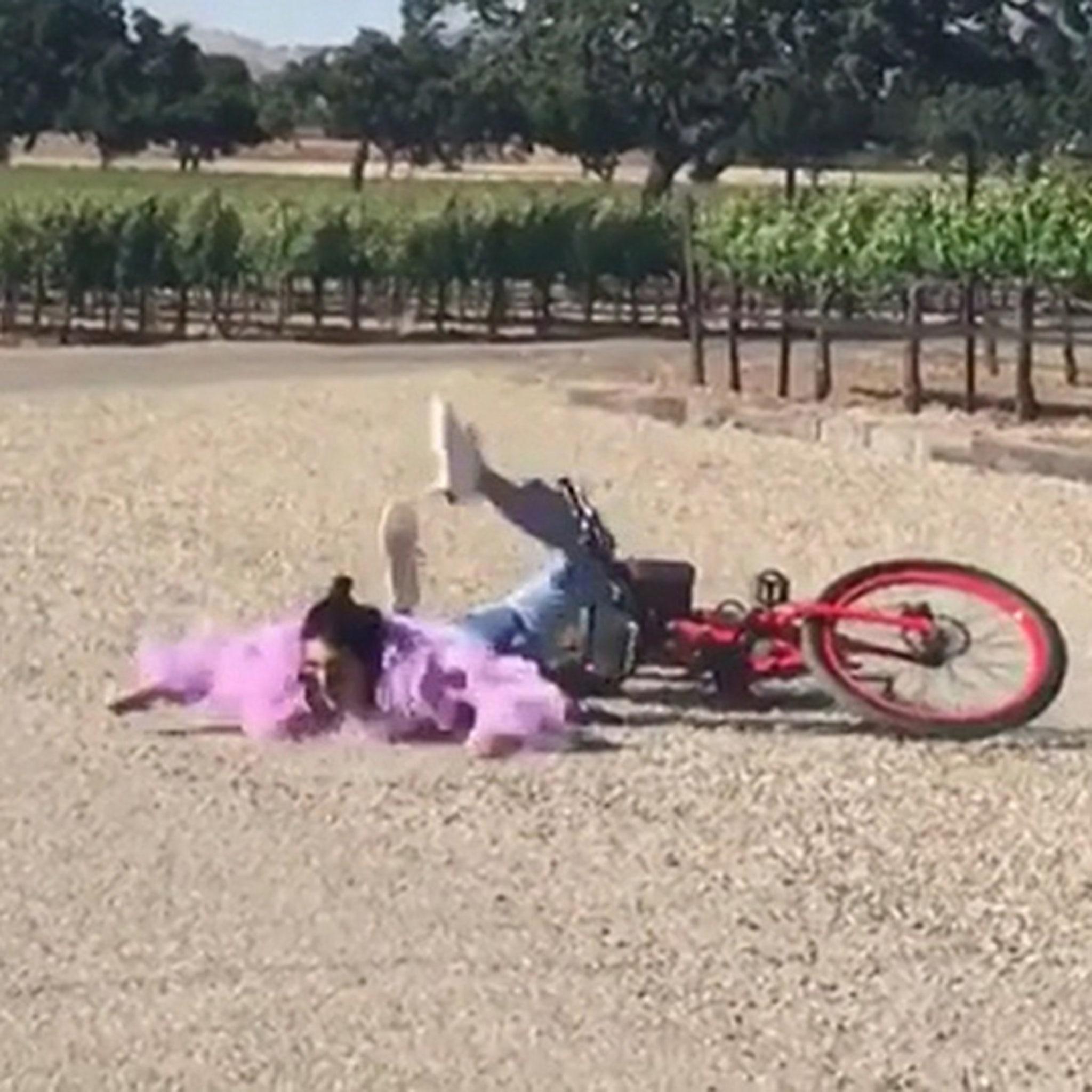 Kendall Jenner Eats Dirt Riding a Bike!!!